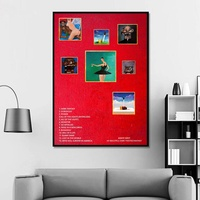 Kanye West - My Beautiful Dark Twisted Fantasy Album Pop Music cover Music Star Poster Canvas Prints Wall Art Home Decor