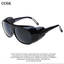 Защитные Очки Завод конкретных анти-ударные очки защитные труда сварочные очки ветер зеркало очки Оптические стеклянные линзы CJ078