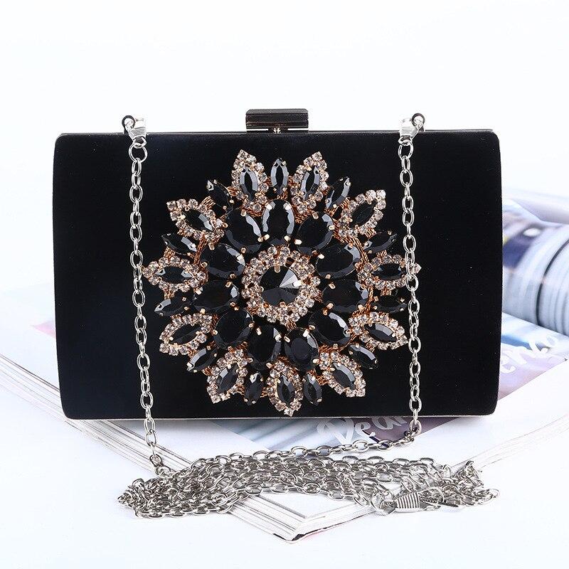 Fashion Luxury Diamond Silver Evening Bags Satin Black Red Rhinestone Clutch crystal widding purse glitter bolsa feminina карабин black diamond black diamond rocklock twistlock