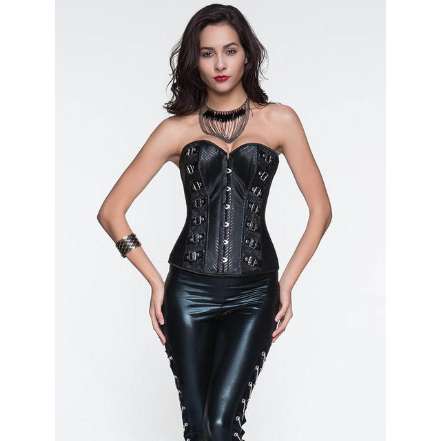 ebc23aa5570 Women Sexy Gothic Steampunk Style Corset Bustiers Body Shaper Waist Trainer  High Quality Fashion Overbust For