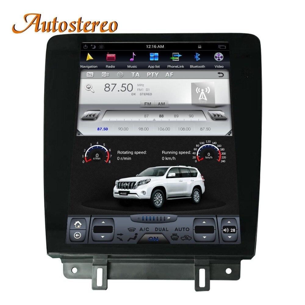 Android Tesla estilo coche reproductor de DVD de navegación GPS para Ford Mustang 2010-2014 Autostereo unidad central multimedia grabadora de cinta