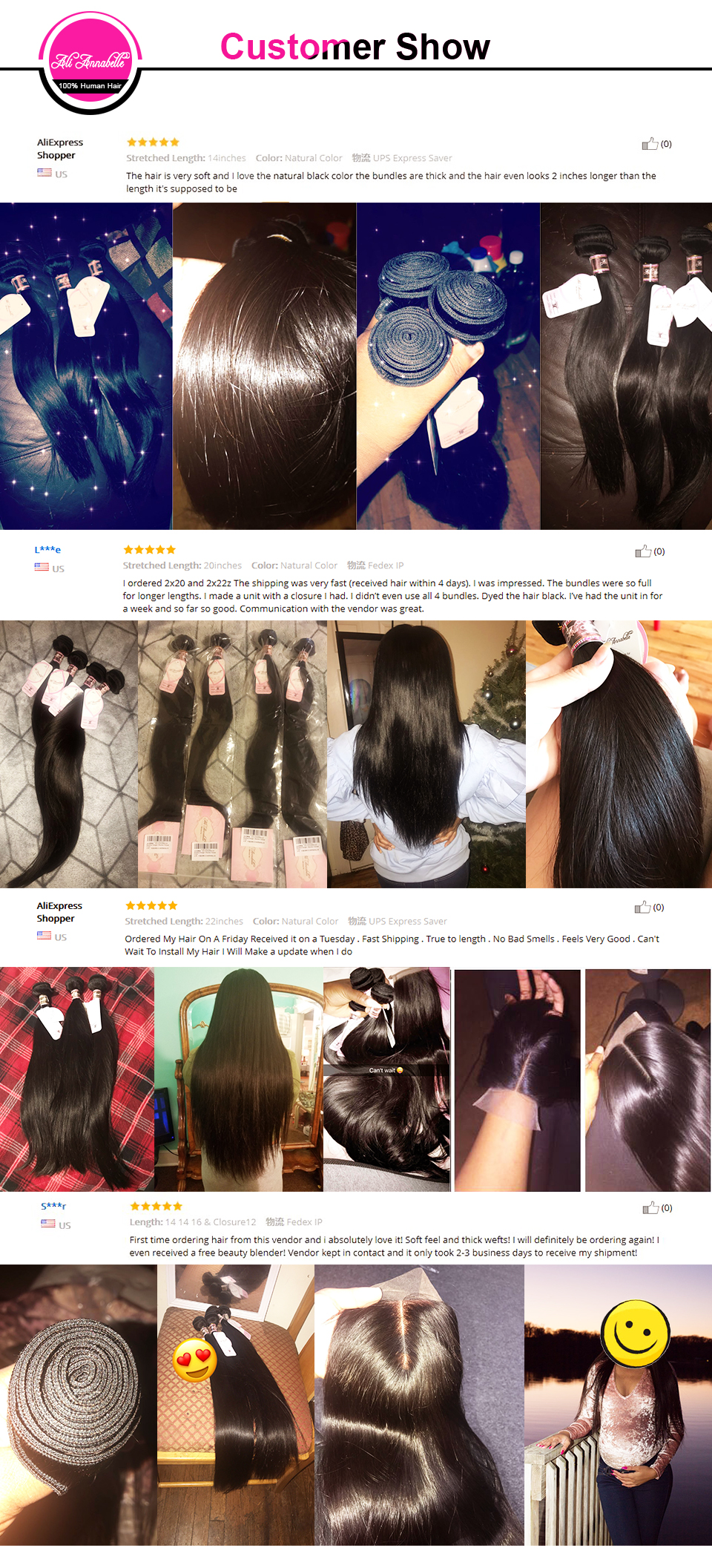 HTB1cpgJDmBYBeNjy0Feq6znmFXab ALI ANNABELLE HAIR Straight Brazilian Human Hair Bundles With Transparent Lace Frontal/Medium Brown 3 Bundles with Lace Closure