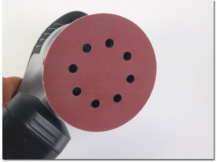 5inch 125mm Aluminum Oxide Abrasive Sanding Paper  Sandpaper For Polishing Tools