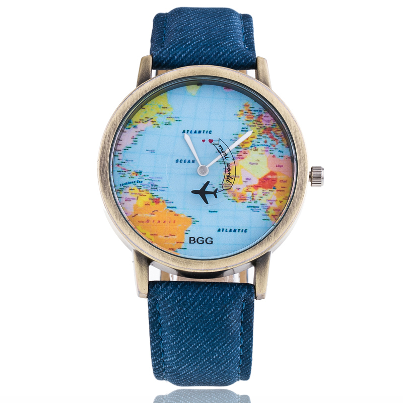 2017 New Brand Retro World Map Wristwatches Women Men Multicolor Quartz Watch Fashion Casual Watches High Quality 5 Colors free drop shipping 2017 newest europe hot sales fashion brand gt watch high quality men women gifts silicone sports wristwatch