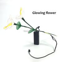 Thiết Kế thương hiệu Văn Hóa Trung Quốc EL Rope Ống Glowing Phalaenopsis Môi Trường Xung Quanh Ánh Sáng Led Strip Neon Sparkle Hoa cho Hiệu Suất Giai Đoạn