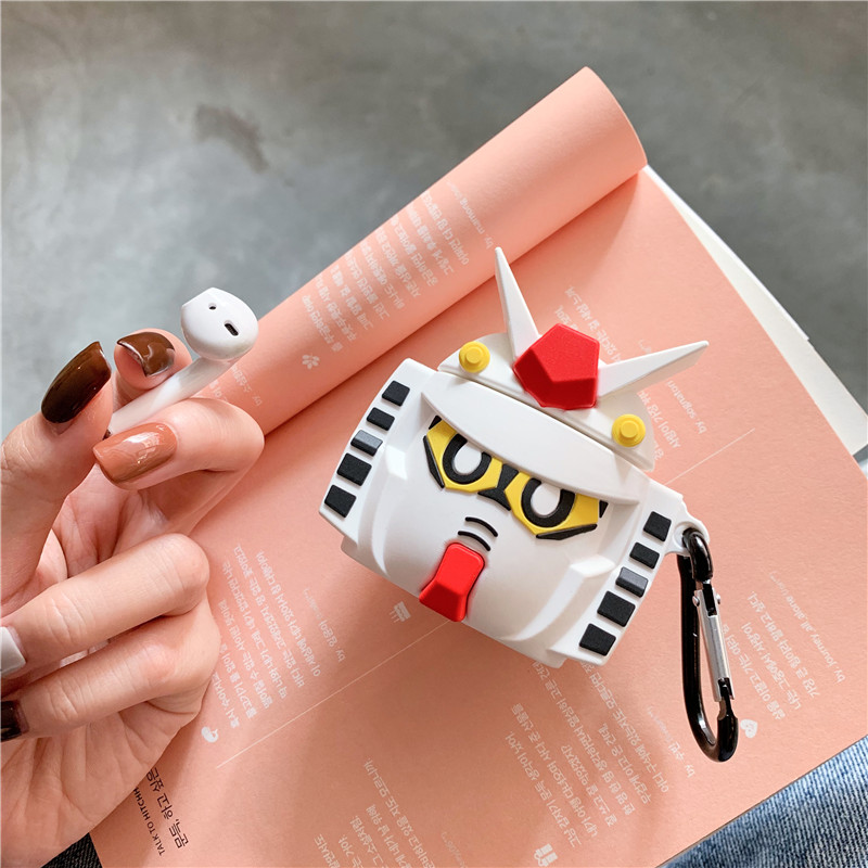Image 5 - 3D Cute Cartoon GUNDAM Mobile Suit Headphone Cases For Apple Bluetooth Headset Airpods 1 2 Silicone Protective Sleeve Skin Cover-in Earphone Accessories from Consumer Electronics