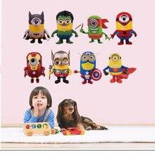 Avengers minions wall sticker decal