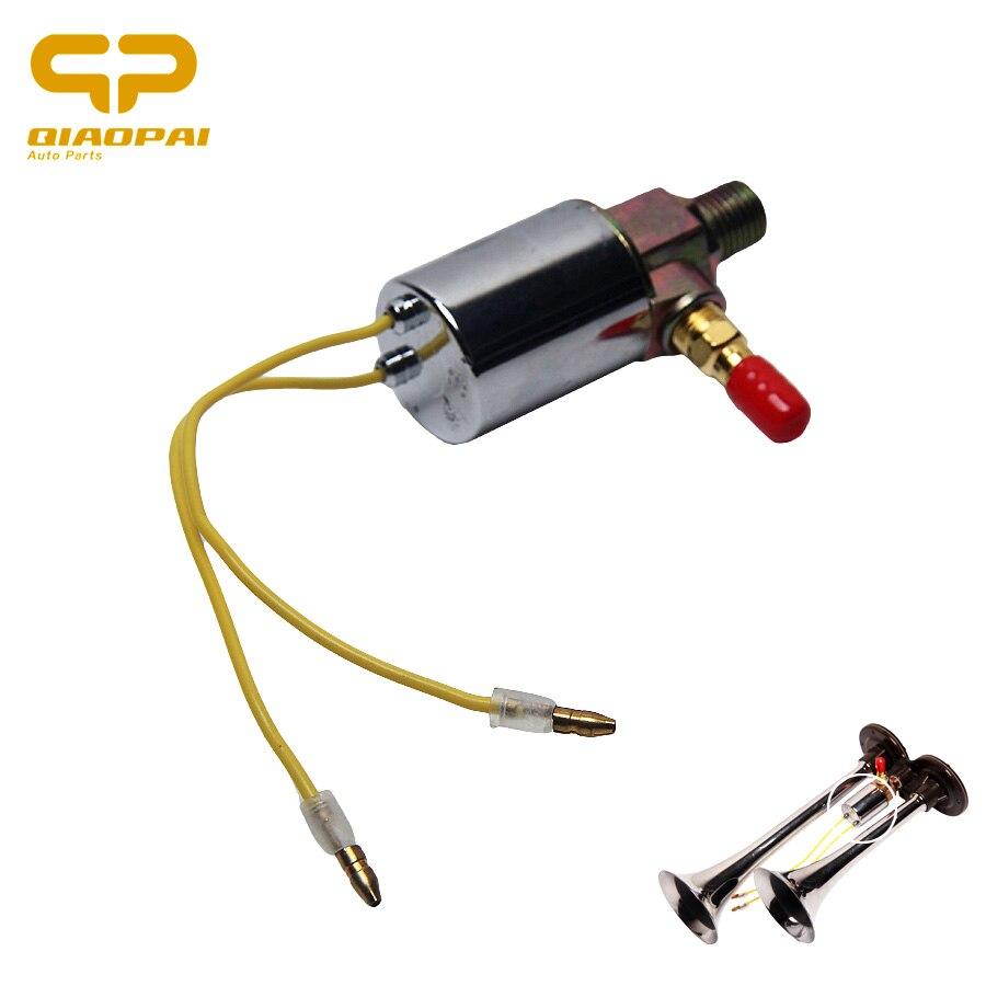 Универсальный Воздушный Соленоидный клапан 12 В 24 В 1/4 дюйма, медный Электрический электромагнитный клапан для автомобиля, поезда, грузовика, магазина, аксессуары для воздушных Рожков