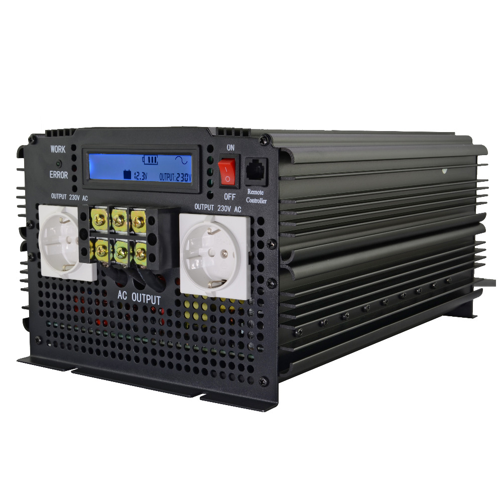 Most Advanced LCD Display 3500W PURE SINE WAVE INVERTER 12VDC to 220VAC(7000W PEAK)DC To AC outdoor home frequency inverter-in Inverters & Converters from Home Improvement    2