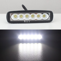 2 Pieces Mini 6 Inch 18W 6 X 3W Car CREE LEDs Light Bar As Work
