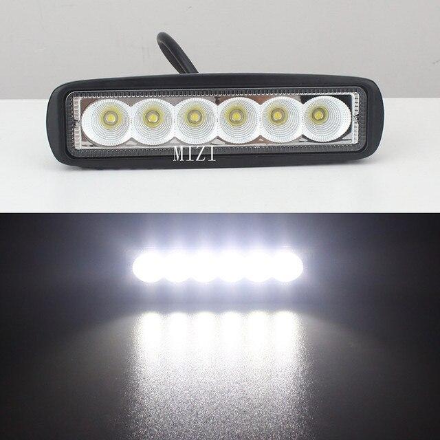 2PCS 6 inch 18W LED Light Bar 12V 24V Motorcycle LED Bar Offroad 4x4 ...