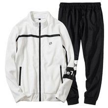 2 Pcs Set New Clothes Men Sets Fashion Brand Track Suit Sporting Sweatshirt Sweatpants Mens Clothing TrackSuit Soft Slim