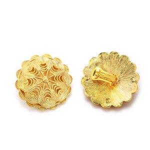 Image 5 - مجموعات مجوهرات أثيوبية بالجملة من Ethlyn رخيصة لحفلات الزفاف مكونة من أربع قطع مجموعات زفاف مطلية بالذهب الأفريقي إكسسوارات S323