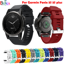 20mm Sport watchband For Garmin Fenix 5S plus smart watch GPS Replacement Quick Release Silicone Strap WristStrap Accessories