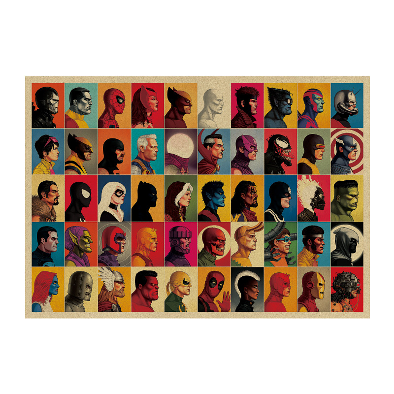 Poster Marvel Poster Marvel Poster Bar Dormitory Decoration Painting Bedroom Living Room Decoration Vintage Painting