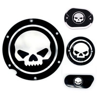 Motorcycle Skull Black Timing Accessories Derby Timer Cover For Harley Sportster Iron XL 883 1200 04