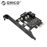 ORICO 2 Port USB3.0 PCI E Expansion Card 15 Pin SATA to Big 4 Pin Interface 5 Gbps Speed For Computer Component PCI Express Card