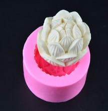 silicone mold Food grade silicon lotus flower candy molds cake mould turning mold fruit mold aroma