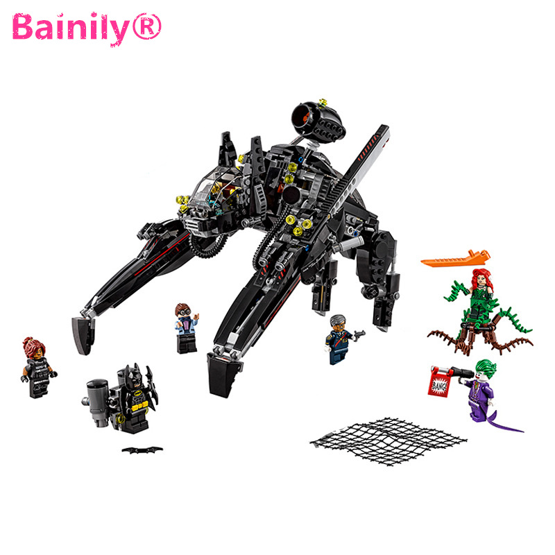 [Bainily]New Batman Ride The Scuttler With Batman Man-Bat Building Block Toys Compatible ...