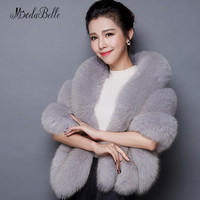 Bolero Women Faux Fur Black White Red Pink Gray Wedding Winter Coat Bolero Women Faux Fur