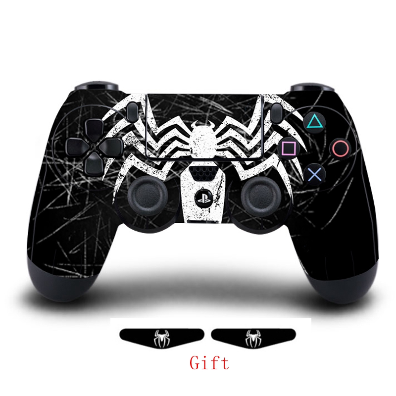 Game Venom Full Cover Controller Skin Stickers For Playstation 4 Dualshock 4 Vinyl Skins Decals Play Station 4 Gamepad Protector(China)