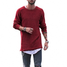 SHUJIN 2019 Spring Knitting Sweaters Men Fashion Solid Long Sleeve Sweater Male Casual Streetwear Loose Christmas Pullover