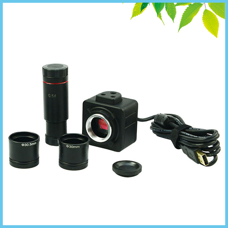 5MP Industrial Electronic Eyepiece Digital USB CMOS Video Camera with 0.5X C-Mount for Biological Stereo Microscope5MP Industrial Electronic Eyepiece Digital USB CMOS Video Camera with 0.5X C-Mount for Biological Stereo Microscope