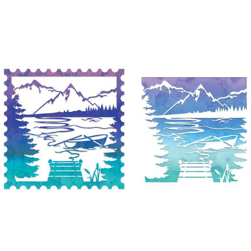 GJCrafts Lake Scene Square Dies Cutting Dies 2019 for Card Making Scrapbooking Album Embossing Paper Stencil Craft Metal Die CutGJCrafts Lake Scene Square Dies Cutting Dies 2019 for Card Making Scrapbooking Album Embossing Paper Stencil Craft Metal Die Cut