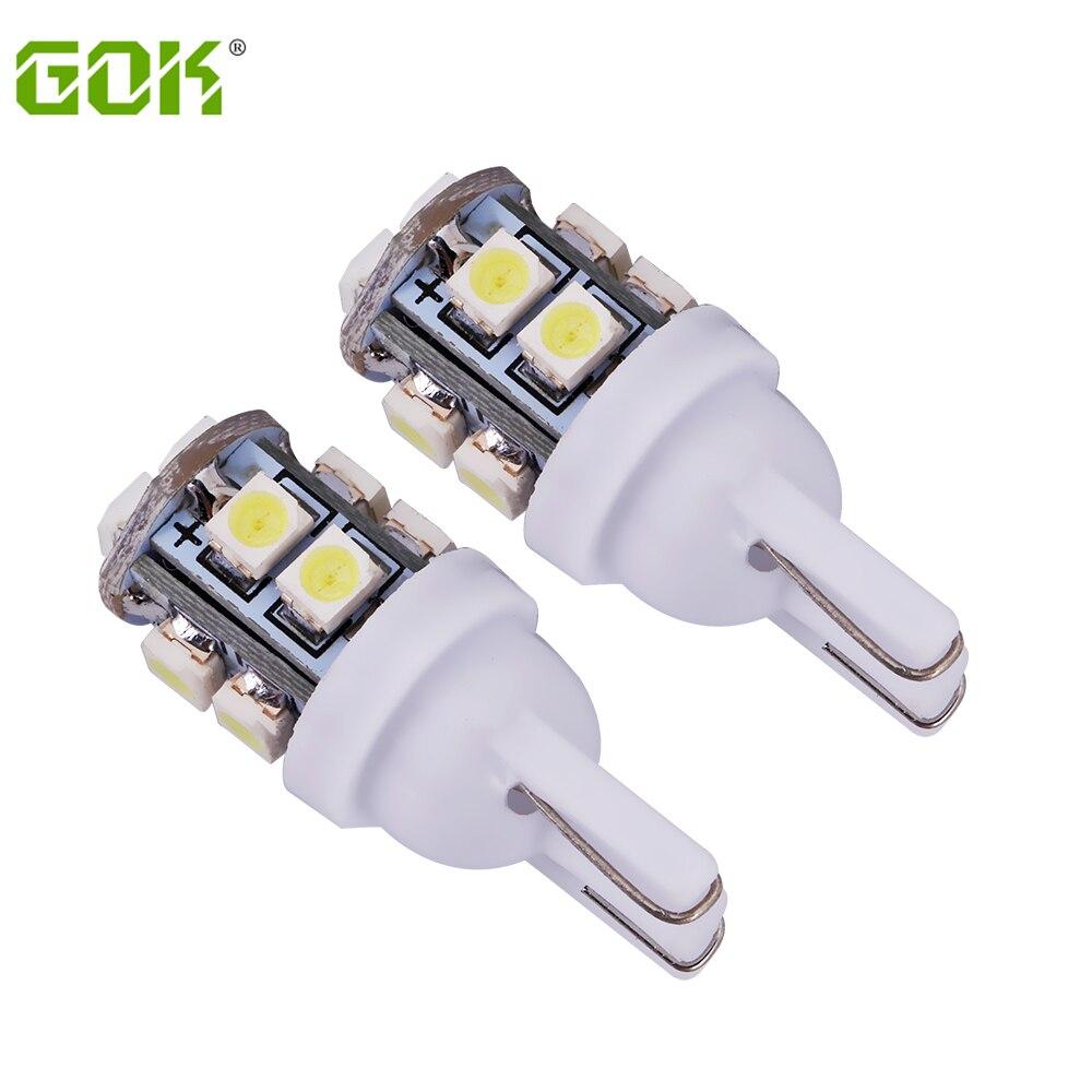 100pcs/lot Car Led Light T10 10smd W5W Led Light 168 194 1210 3528 SMD T10 10LED Clearance Bulb Lamp White Color Car Styling