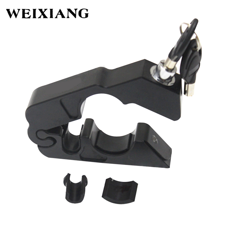 Universal Motorcycle Handlebar Lock Scooter Brake Clutch Security Safety Theft Protection Locks