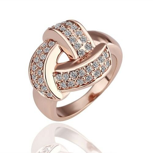 R081 wholesale 18k gold plated rings jewellery new times fashion jewelry design rhinestone cross ring free shipping