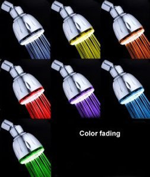 CY-8010-A6 Supernova Sale 7 Colors Flashing ABS LED Top Shower Head Led Showerhead ABS Plastics Led Faucet Light