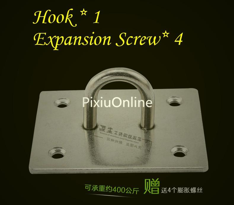1PCS YT540B 304 Stainless Steel Sandbags Hook Lamp hook The Fixed hook U-Shaped Bearing Hook Bear 400KG Distribution Scre 2018 hook