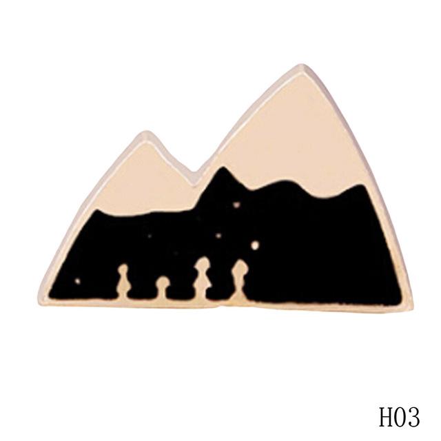 Cute Variety Patterns Metal Pin Brooches
