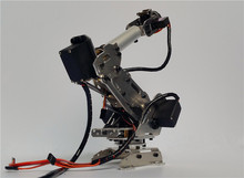 Abb Industrial Robot R768 Mechanical Arm 100% Alloy Manipulator 6-Axis Robot arm Rack with 6 Servos