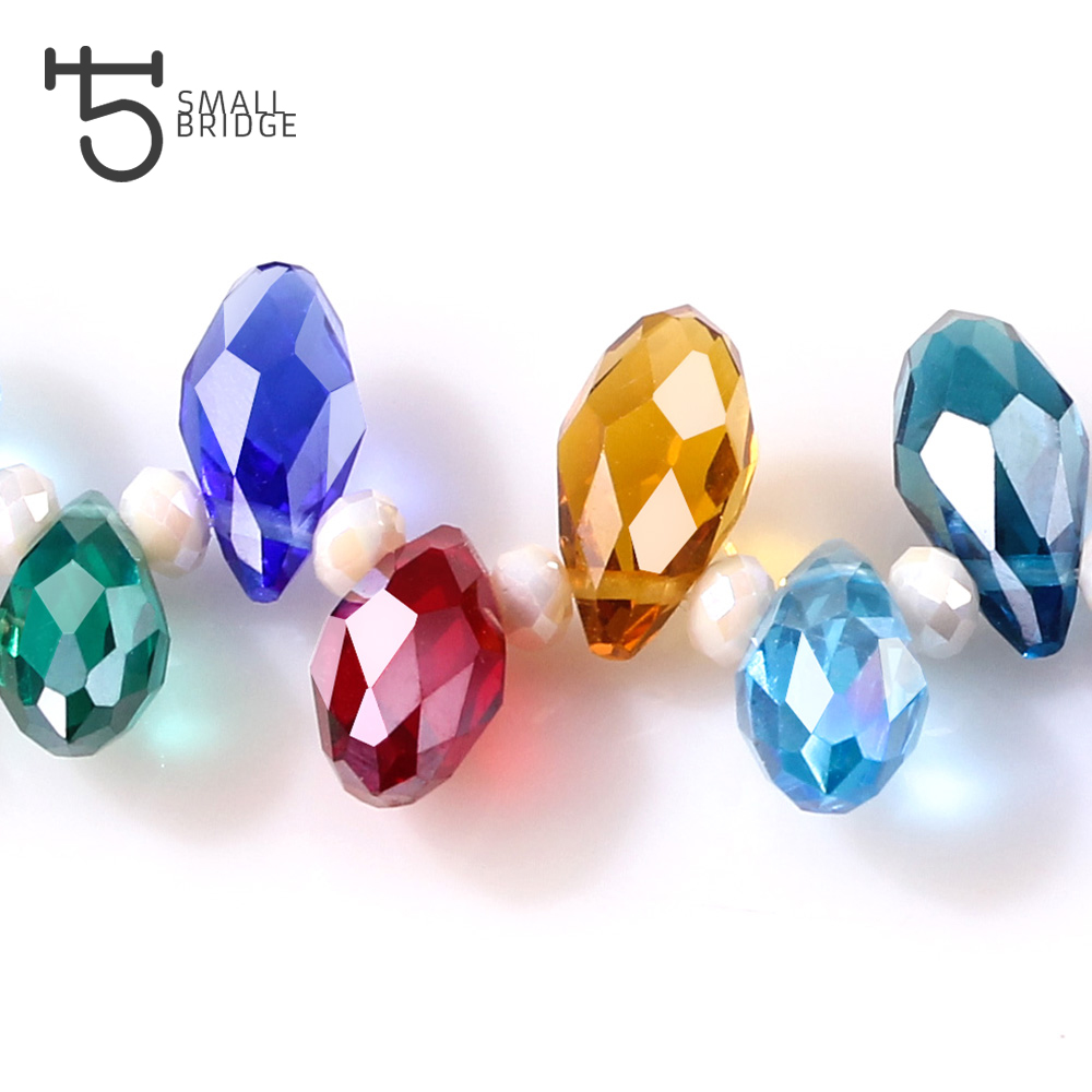 Jewelry & Access. ...  ... 32800639390 ... 4 ... Austria Multicolor Glass Teardrop Beads For Jewelry Making Necklace Diy Accessories Faceted Crystal Briolette Beads Wholesale ...
