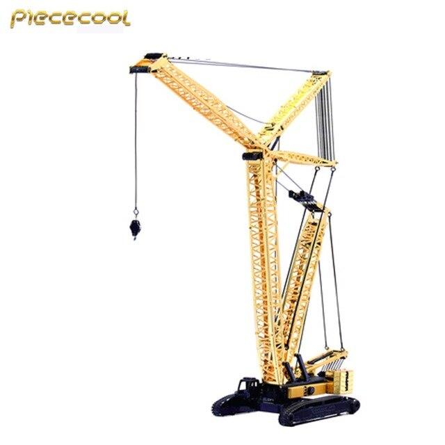 2016 Piececool 3D Metal Puzzle Crawler Crane P081-GK DIY 3D Laser Cut Assemble Models Toys For Audit
