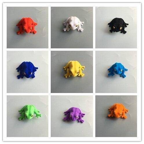 flocking figure model toy animal coloring frog 9pcs/set