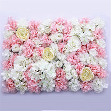40x60cm Artificial Flower wall decoration Road Lead floral fake Hydrangea Peony Rose Flower for Wedding Arch decor flores wreath