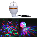 New Popular Mini 3W RGB USB LED Crystal Magic Ball Stage Effect Lighting Lamp Party Disco Club DJ Bar Light Show
