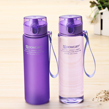 Christmas Gift 400/500ML Water Bottle Leak Proof Travel Drink Outdoor Portable Frosted Plastic Water Bottles Botella De Agua.Q 500ml frosted portable seal bottles plastic sports water bottle leak proof bike outdoor climbing gift high quality sby8011