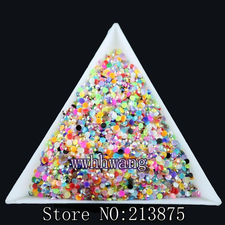 Bricolaje, 10000pcs / bag, SS6, color de la mezcla, color mágico AB - Artes, artesanía y costura