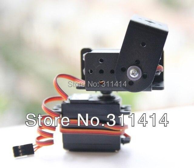 1 компл. 2 DOF короткие панорамирования и наклона Сервоприводы датчик кронштейна комплект для монтажа робот Arduino совместимый MG995 оптом и в розницу Бесплатная доставка