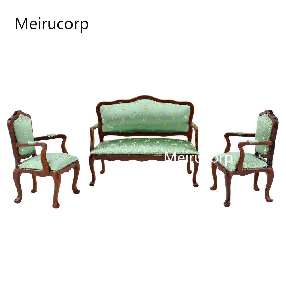 1/12 échelle dollhouse miniature meubles Modèle Chaise et canapé ensemble