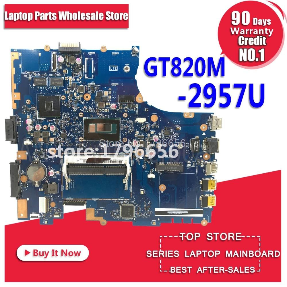 PU551LD motherboard GT820M 2957U REV2.0 for ASUS pro551l PU551LD P551L PU551LA Laptop motherboard PU551LD motherboard PU551LD