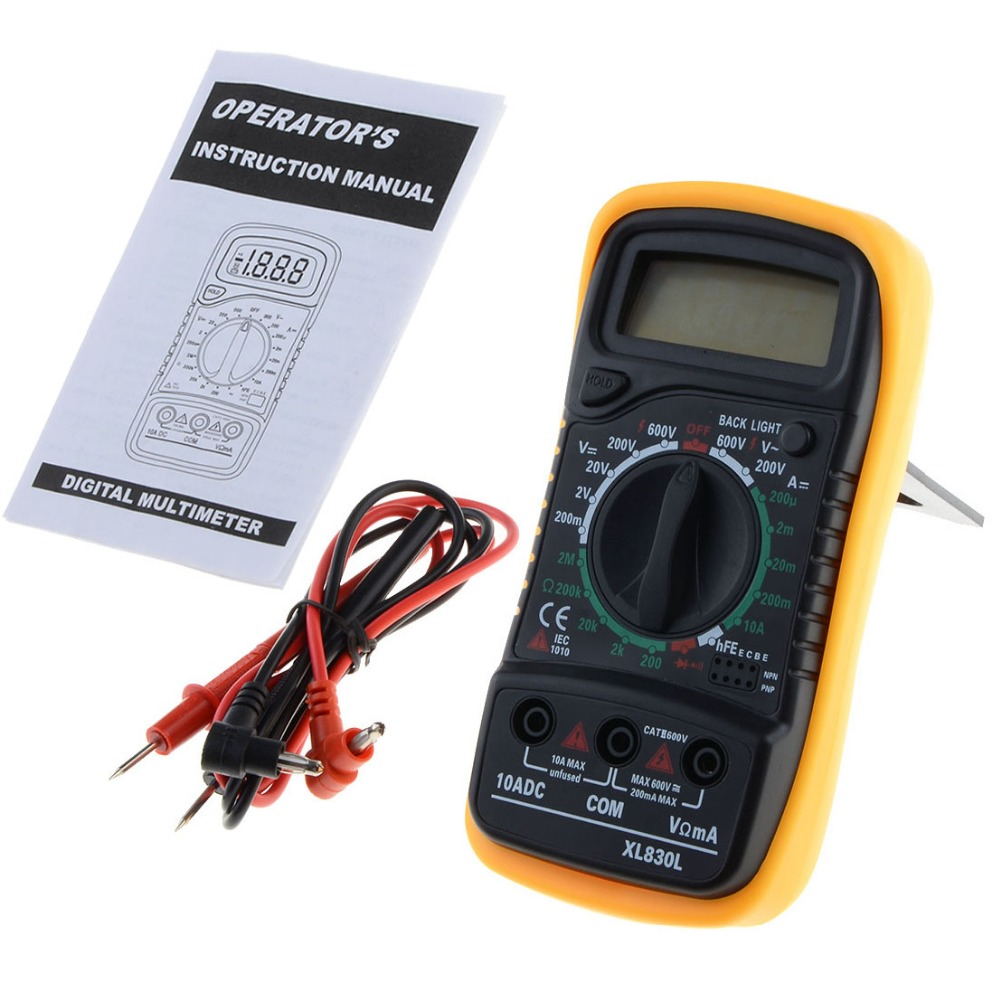LCD Multimetro Digitale Tensione Resistenza Transistor hFE Multimetro Multitester Medidor Dijital Multimetre Trasporto di Goccia