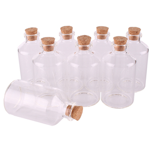 "Image 4 - 24 יחידות גודל 40*75*12.5 מ""מ שקוף 60 ml בקבוקי זכוכית עם פקק פקק ריק בקבוקי תבלינים מלאכות מתנת צנצנות בקבוקי"