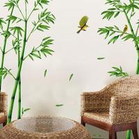 TPFOCUS съемный зеленый Бамбуковый Лес стикер на стену в китайском стиле DIY домашний декор для гостиной
