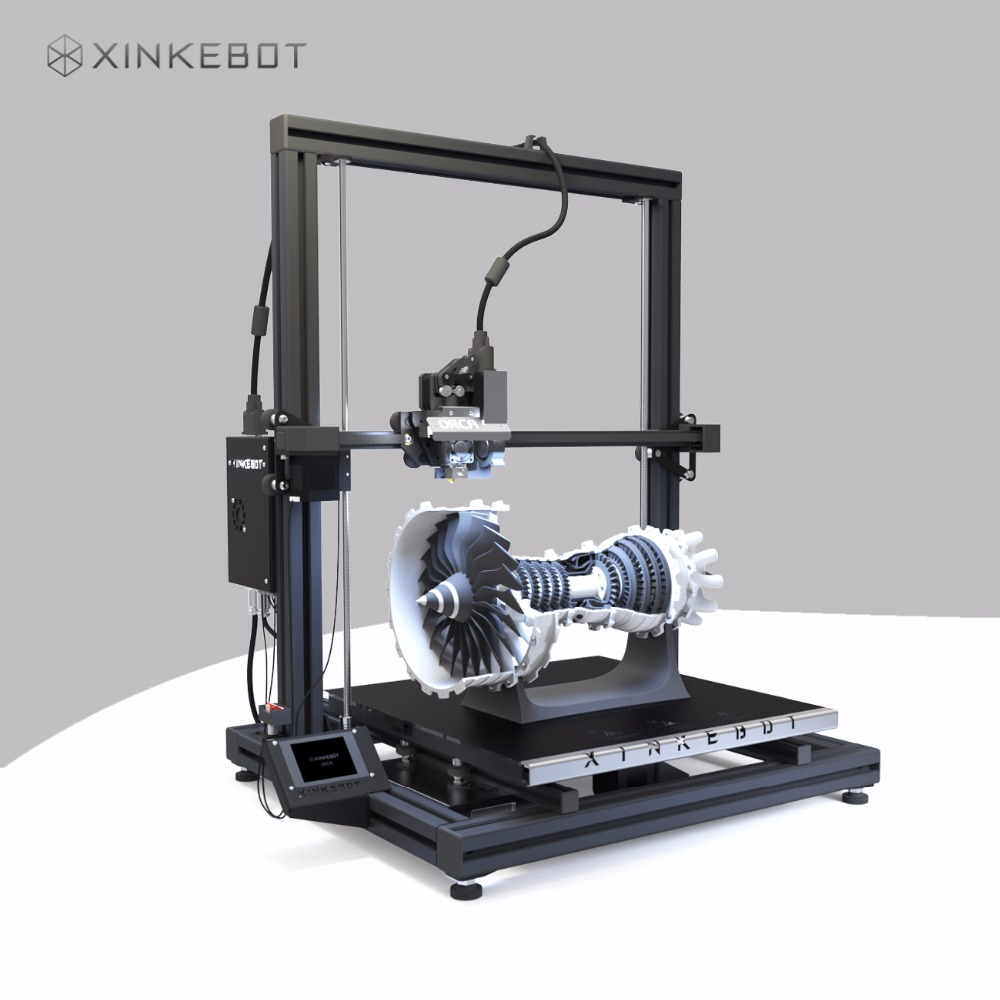 Large 3D Printer Auto Leveling Heated Bed Xinkebot Orca2 Cygnus Dual Extruder 3D Printer 15 7x15