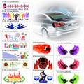 Новые светодиодные наклейки на автостекла (украшение, светомузыка активируемая звуком, 3d, эквалайзер)